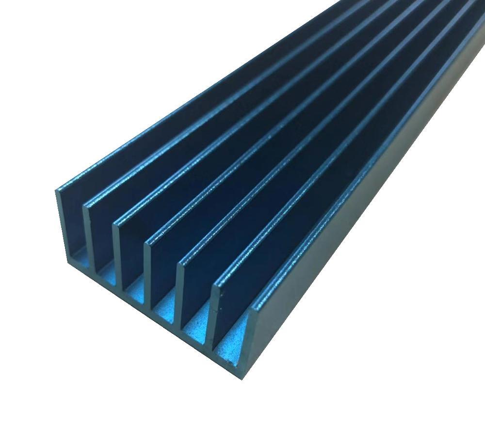aluminum extrusition anodizing blue heat sinks
