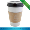 custom printed Double wall kraft coffee holder paper cup with lid