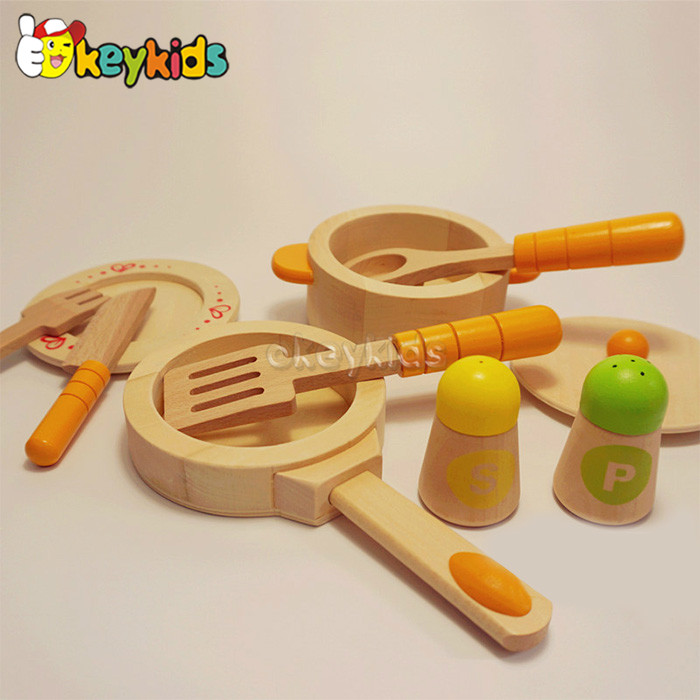 2016 wholesale baby wooden kitchen toy play food, pretend play kids wooden kitchen toy play food W10B130