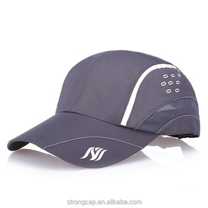 Plain curved brim logo custom printed polyester cotton mesh baseball style sports gym cap