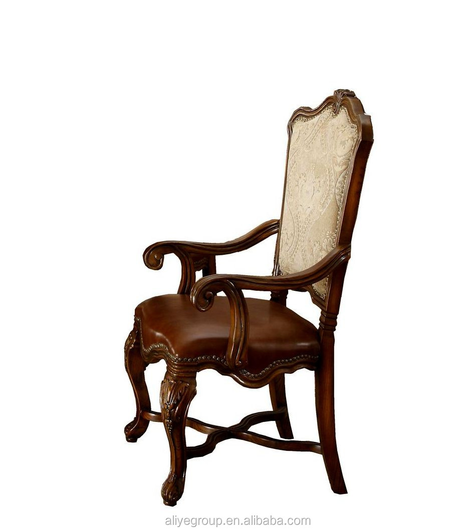 Antique Dinning Chair Leather Styles Pictures 9005a-25