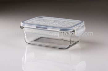 Clear Pyrex Borosil Heat Resistant Rectangle Gl Food Container With Lid