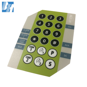 Free Sample Graphic Overlay Membrane Pressure Switch