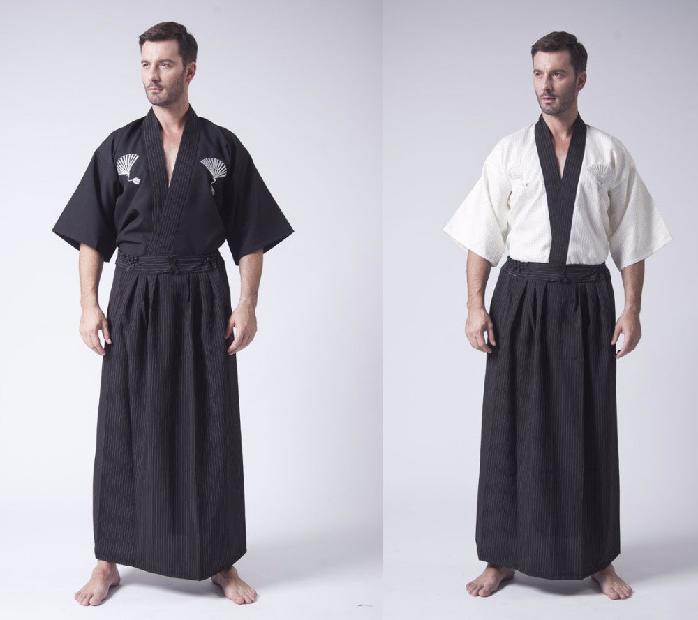 women cheapest price special price for Hot New Style Japan Uniform Men's Yukata Japanese Haori Kimono Robe Cosplay  Costume Japanese Men's Warrior Kimono Free shipping
