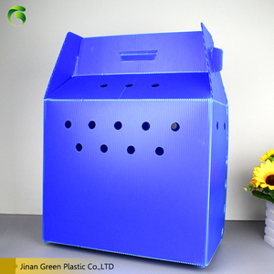 Eco-friendly Corflute PP Plastic Live Animals Pet House Box