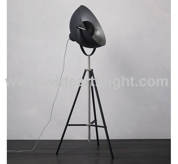 Ul Cul Listed Painted Black Tripod Industrial Floor Lamp With ...