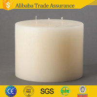 hebei seawell supply 6x4 white Unscented 3 Wick round Pillar Candle