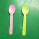 colorful plastic measuring ice cream baby spoon