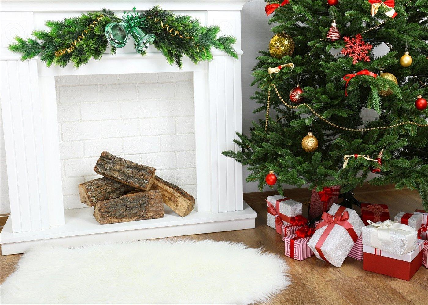 Arbre Bois Blanc Decoration buy kate 7x5ft christmas backdrop fireplace christmas tree