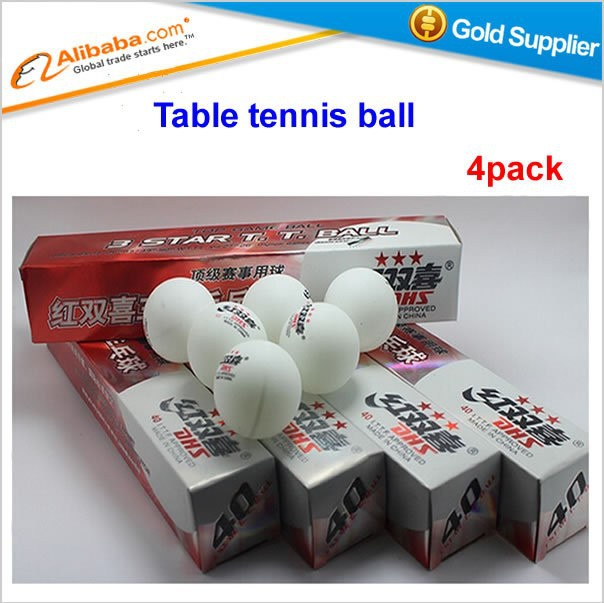 Free shipping Hot sell pingpong ball 4 pack DHS 3 star white 6pcs/pack Table tennis ball
