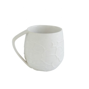 Cheap price textured embossed tea set pottery coffee cups / home goods ceramic tea cup