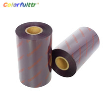 Zebra godex g300 printer thermal transfer printing wash resin foil purple and brown ink thermal ribbon