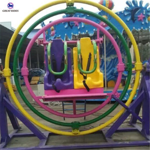 Super thrilling fairground attraction 3D space ring human gyroscope ride for sale