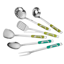 cute kitchen utensil set handle with cloreful plastic high quality stainless steel