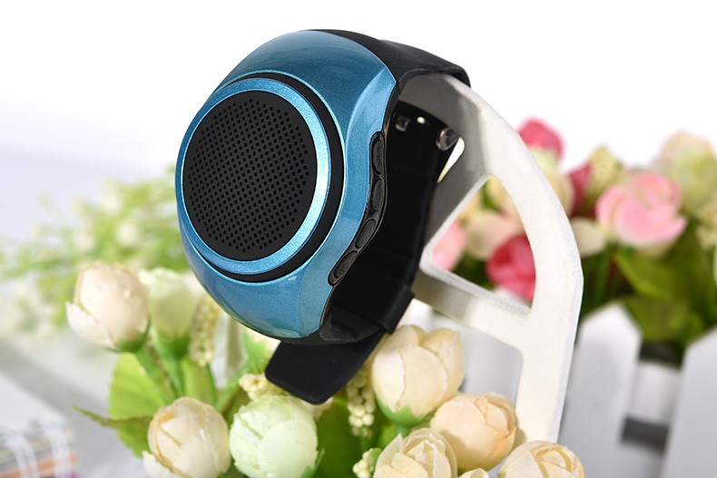 New B20 Multifunction Bluetooth Mini Speaker Watch Style Portable Music Player with FM Radio Handsfree Mic Selfie Shutter Phone