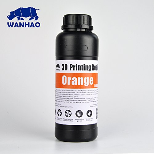 Wanhao UV Cure 3D Printer Resin - Orange 500ml