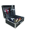 Large aluminum custom hairdressing tool carry barber case