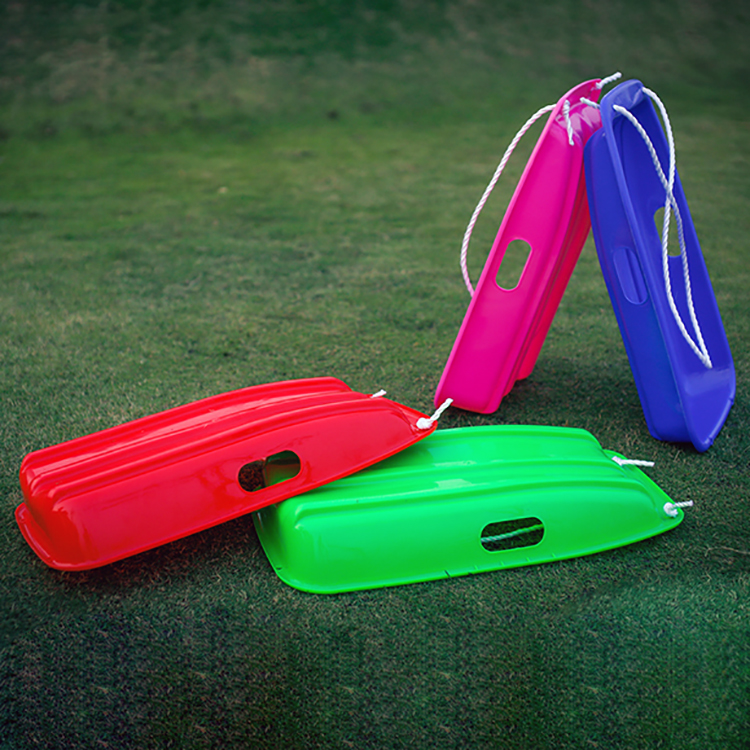 Hot sale downhill mini plastic adult kids toboggan winter snow skis sleds