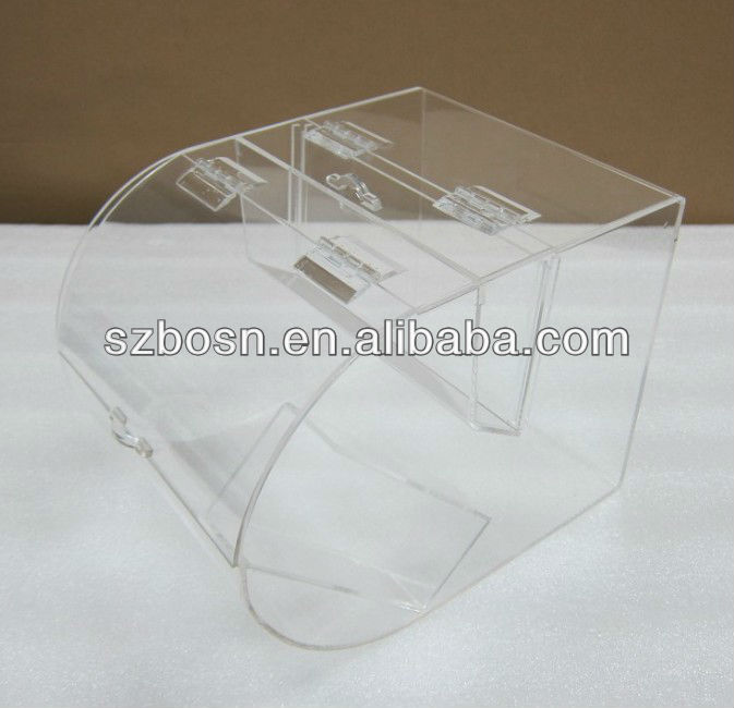 customized acrylic storage container for retail shop