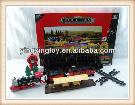 plastic kids battery operate railway remote control toy toy train