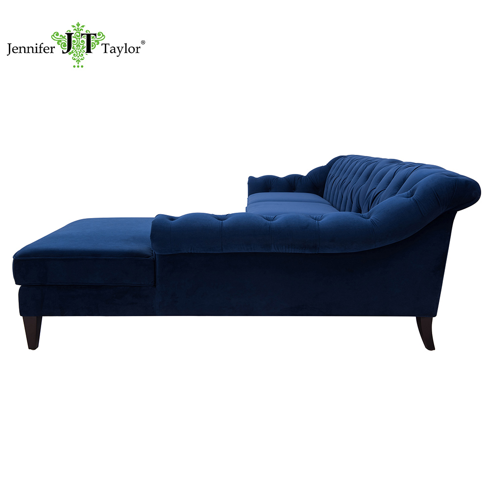 Hot Sale Large Luxury Upholstery Tufted L Shape Sectional Sofa Fabric Three  Seater Couch With Chaise Lounge Hotel Furniture - Buy Sectional Sofa,Couch  ...