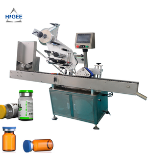 20ml automatic round bottle labeling machine for cosmetic manufacturers ,plastic tin can labeler adhesive sticker applicator