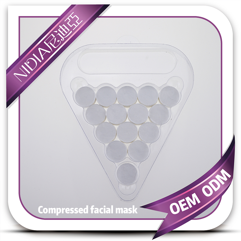 OEM ODM Compressed facial mask sheets with tray