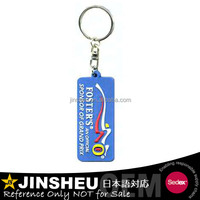 Rubber made 2d custom shaped logo soft pvc keychain