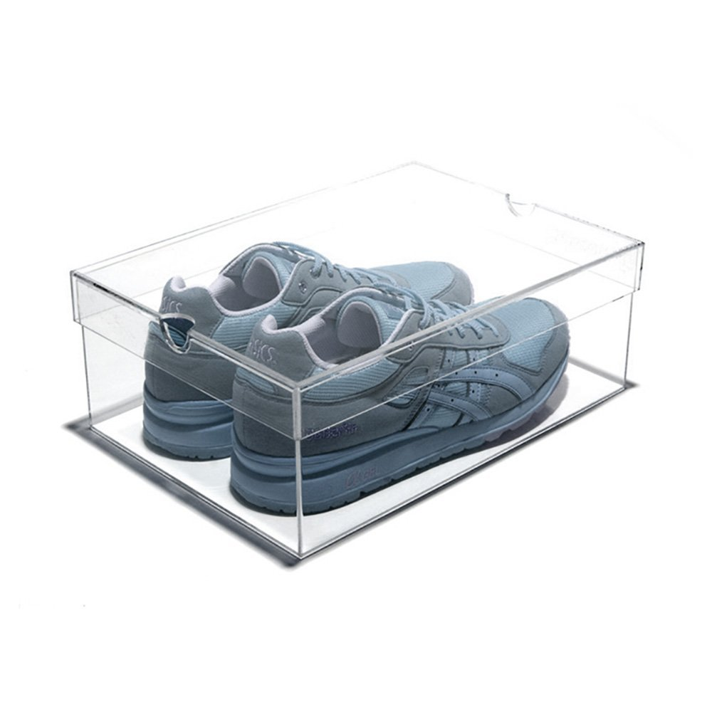 Factory Outlet Transparent Clear Large Acrylic Shoe Gift Display Box With Lid Cover