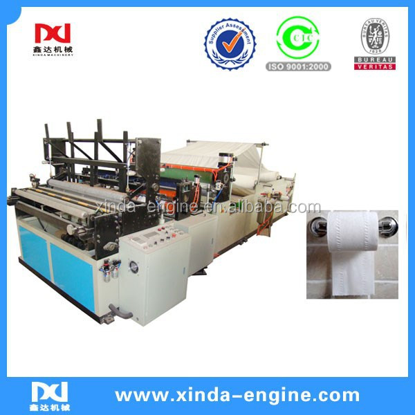 converting machine tissue roll toilet paper automatic machinery,toilet paper roll edge embossing machine SPB