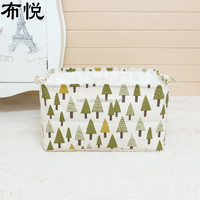 < Storage Box Factory> 35*25*40CM Small tree 4 color beam mouth storage box square home storage can be folded SN2004