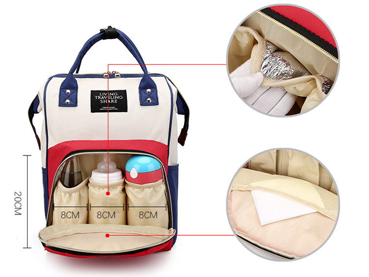 Waterproof Travel Anti theft Mom Back Pack Fashion Baby Nappy Changing Bag Backpack Mommy Mummy Diaper Bag