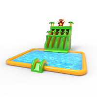Nice Price Kids And Adult Inflatable Water Park Slide Juegos Inflables With Pool