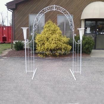 De Jardin De Metal De Ach De Hierro Forjado Arbor Blanco Boda Arco - Arcos-de-jardin