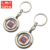 Wholesale Custom Metal Soft Enamel 3D Souvenir Spinning Keychain