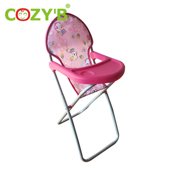 Children Pretend Play Game Lovely Toy Pretend Toy Baby Doll High Chair