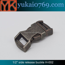 Yukai wholesale metal insert buckle/side release buckle for backpack/bag accessory buckle