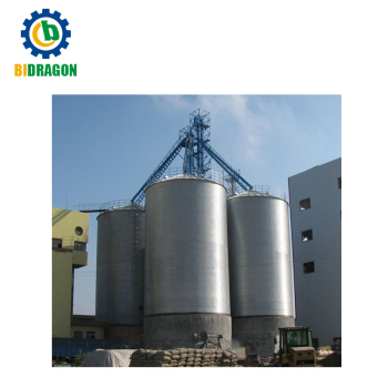 Galvanized paddy rice flat bottom storage silo