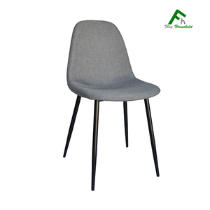 Modern Home Cafe Office Restaurant Furniture Fabric Cover Plastic Dining Chair With Metal Leg