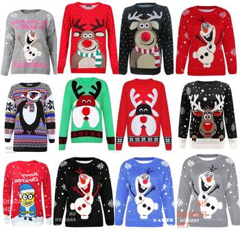 Oem Wholesale Unisex Plus Size Xmas Jumper Ugly Christmas Sweater ...