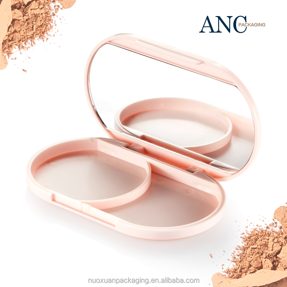 ANC Wholesale star product pink color natural compact powder case fresh design suitable price manufacturer