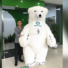 Giant 2019 Moving Cartoon Animal Polar Bear Inflatable Mascot Costume For Adult