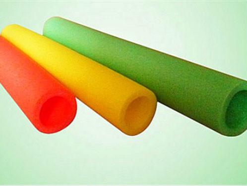 Foam Padding Roll >> Epe Foamed Pipe/tube /rod /stick Production Line Glowing ...