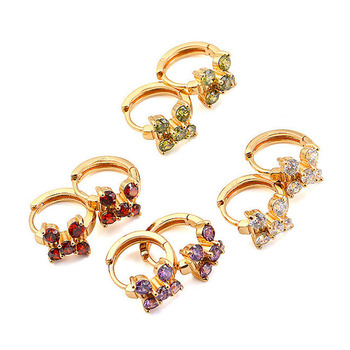 21344 Latest design 18k gold color fashion hoop earrings