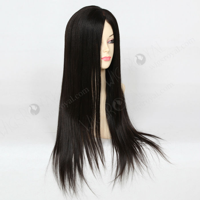 long brazilian human hair light yaki glueless wig
