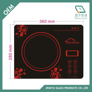 3mm 4mm Black Silkscreen Ceramic Glass For Induction Cooker