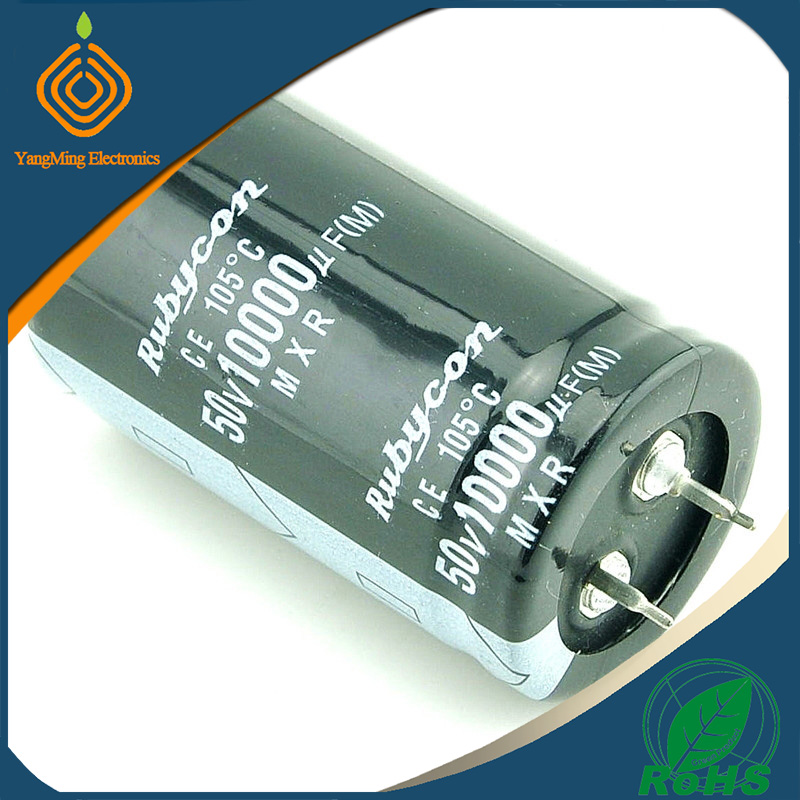 Rubycon electrolytic capacitor 50V 10000UF 30X50 for audio amplifier