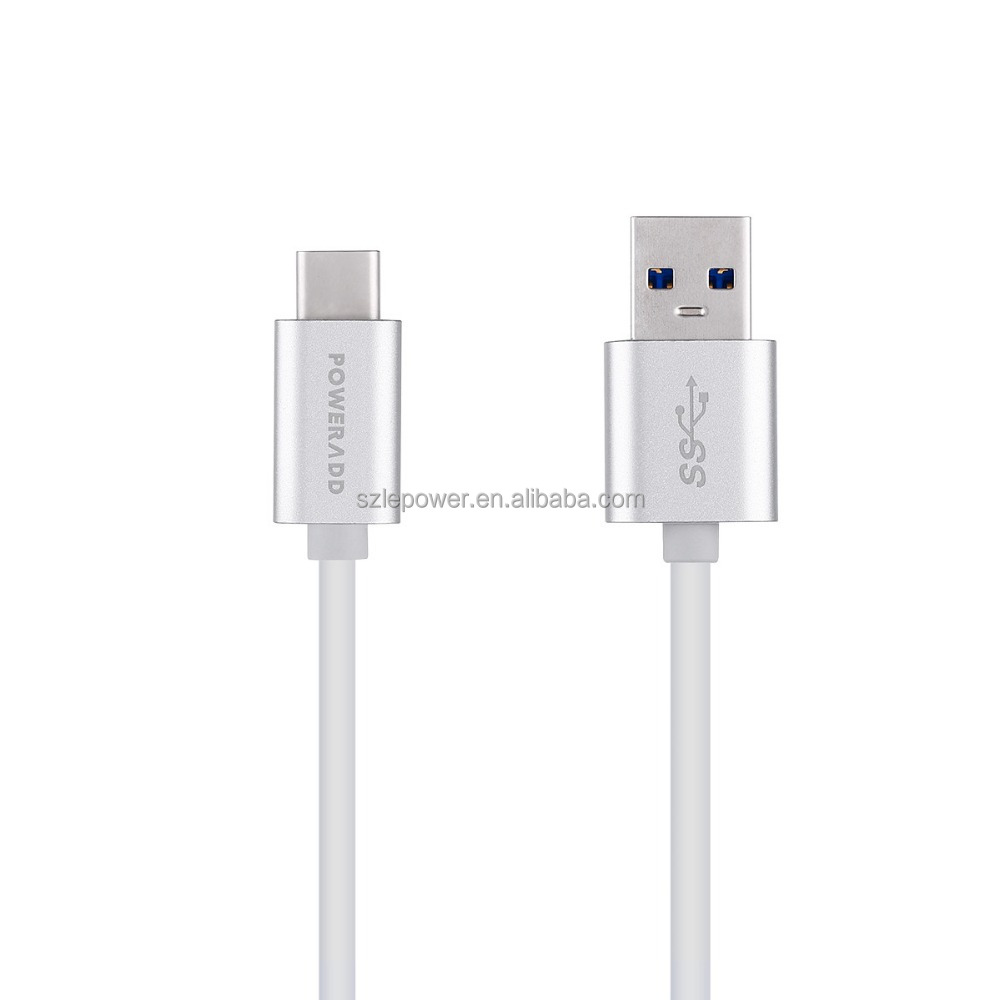 USB Type C Cable, Poweradd USB 3.1 Type C Male to Standard USB 3.0 Male Charge & Sync Cable 4 Ft/1.2m with protective sleeve