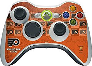 NHL Philadelphia Flyers Xbox 360 Wireless Controller Skin - Philadelphia Flyers Design Vinyl Decal Skin For Your Xbox 360 Wireless Controller