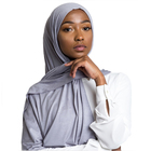 Wholesale high quality jersey scarf stretchy hijab plain headscarves cotton jersey hijab for women